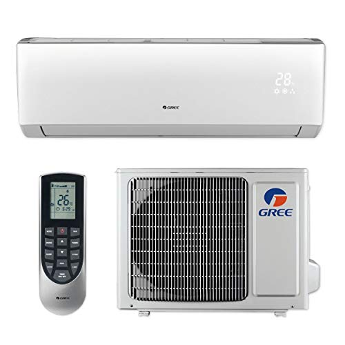 Gree LIVS12HP230V1B - 12,000 BTU 16 SEER LIVO+ Wall Mount Ductless Mini Split Air Conditioner Heat Pump 208-230V ()