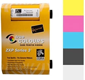 Zebra True Colours Ix Series Colour Ribbon For Zxp Series 3 Ymcko 800033 840 By Zebra Technologies Bürobedarf Schreibwaren