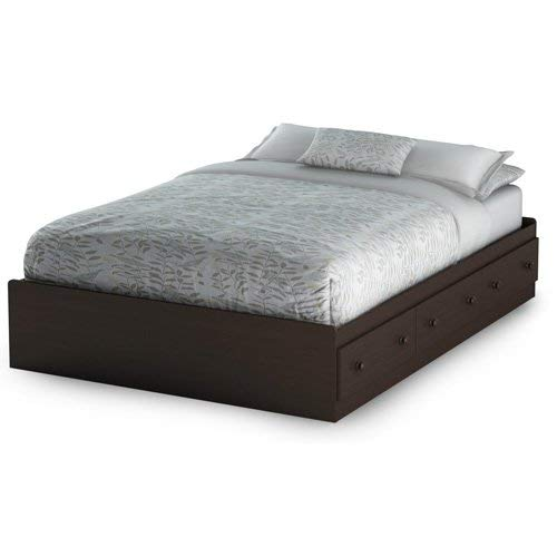 South Shore 3219211 Summer Breeze Mates Bed with 3 Drawers, Full 54-inch, Chocolate