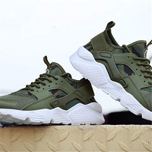 Femmina Scarpe Autunno Qianliuk Traspirante Donna Primavera Luce Mesh Sneakers Calzature Piattaforma Confortevole Uomo Verde Casuale Flats TYIxgIw7q
