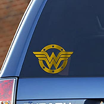 Amazoncom W Superhero Woman Symbol Car Truck Vinyl Decal Wide - Car sticker decal for girlsgirl motorcycle promotionshop for promotional girl motorcycle on