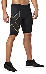 2XU Men's Elite MCS Compression Shorts (Black/Gold, Extra Small)