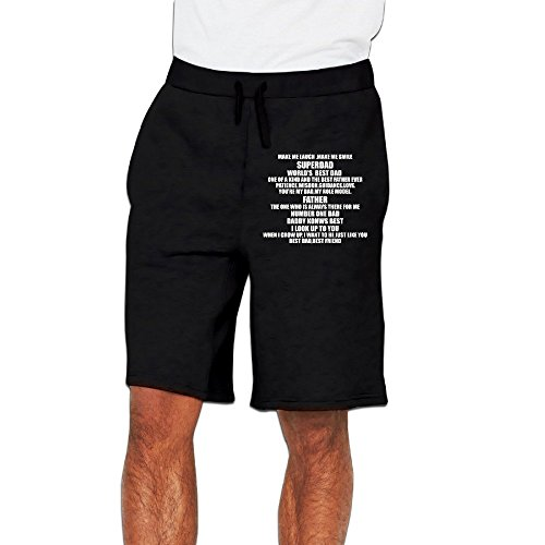HAOHAO Men's Father's Day Gift To My Dad A Letter Shorts Sweatpants
