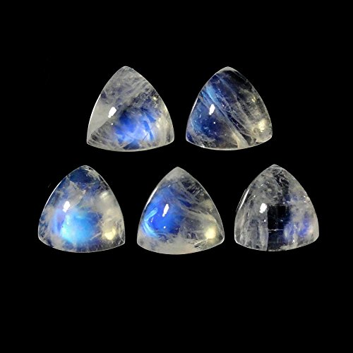 NEW! Rainbow Moonstone Cabs Approximately 9.00 Carat Trillion Shape 8x8mm (10811) ()