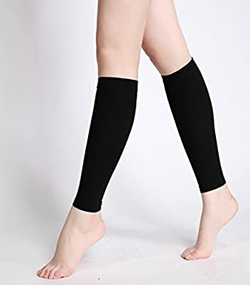 Calf Compression Sleeves - Leg Compression Socks for Shin Splint, & Calf Pain Relief - Men Women Sleeve for Running, Cycling, Maternity, Nurses