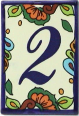 mexican house number tiles - 8