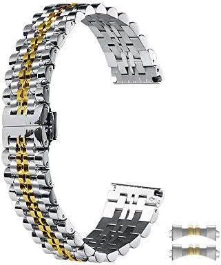 時計バンド ベルト18mm ステンレス製、スマートウォッチバンド ベルト 腕時計バンド 20mm 22mm 交換ベルトステンレス 金属ベルト シルバ Chimaera