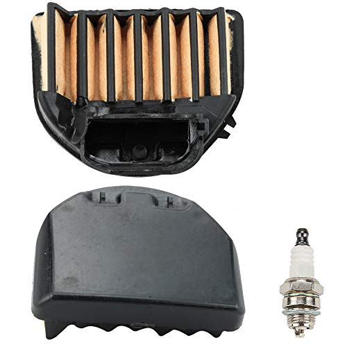 (Leopop 2 pcs Air Filter with Spark Plug fit Husqvarna 455 455E 460 Rancher Chainsaw 537255703 537255702 Engine Parts Kit )