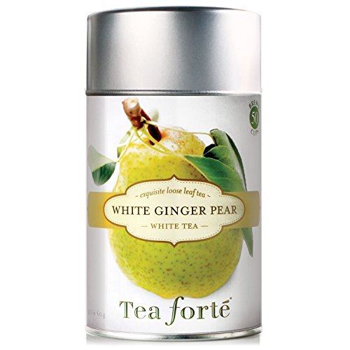 Tea Forte WHITE GINGER PEAR Loose Leaf White Tea, 2.1 Ounce Tea Tin