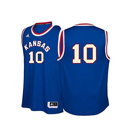 1d71286f262 adidas Kansas Jayhawks NCAA 10 Hardwood Classics Blue Basketball Jersey (M)