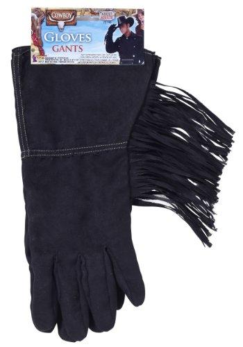 Cowboy Black Fringe Gloves (Cowboy Gloves)