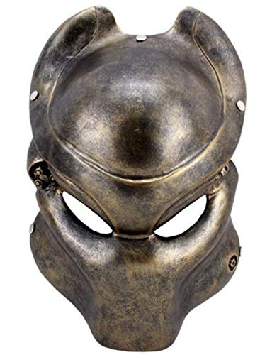 upsky Predator Mask Cosplay Mask Resin Mask for Airsoft Paintball Display Full Face Mask for Halloween -
