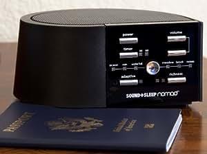 SOUND+SLEEP Nomad Adaptive Sound Machine for Travel, Black