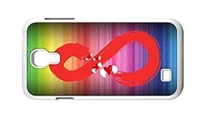 BlackKey infinite / Infinity symbol Snap-on Hard Back Case Cover Shell for Samsung GALAXY S4 I9500 I9502 I9508 I959 -227