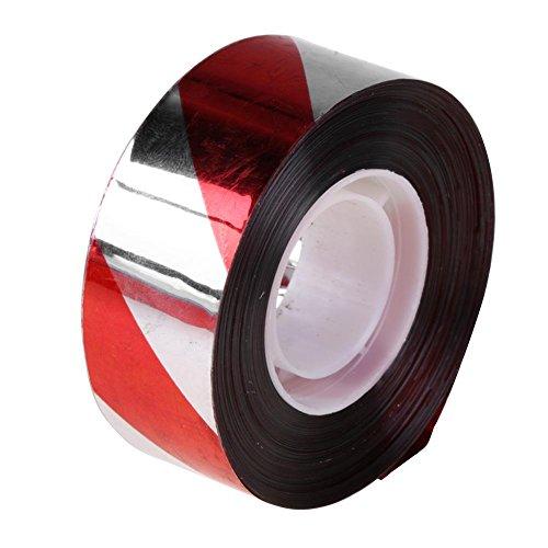 Whitelotous Visual Alarm Ribbon Reflective Flash Bird Scare Tape Festive Decor Band(4)