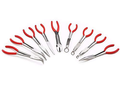 "XtremepowerUS 9pc 11"" inch Long Reach Plier Mechanics Electricians Craft & Hobby Tool Set"