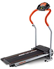Proflex Electric Treadmill X-Strider 6-Speed Ultra Compact Electric Treadmill with 4 Training Programs, Orange