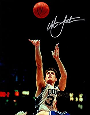 Christian Laettner Signed Photo - Game Winner vs Kentucky Close Up 8x10 - Autographed College Photos