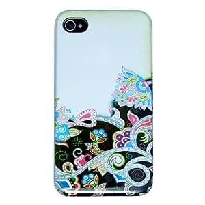 HOR Patrón de flores de colores de nuevo caso para el iPhone 4/4S