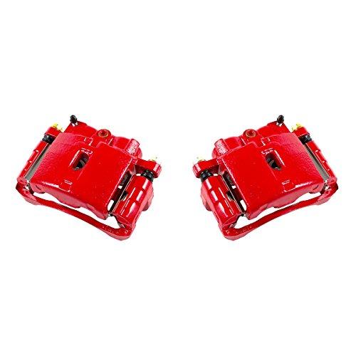 CK00969 [ 2 ] Performance Grade Red Powder Coated Semi-Loaded Caliper Assembly Pair Set