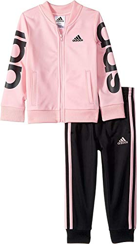 Price comparison product image adidas Kids Baby Girl's Linear Jacket Set (Toddler/Little Kids) Light Pink 3T