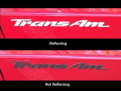 Trans Am Badge Overlay Decal - 93-02 Pontiac Firebird Trans Am - (Color: Reflective Black)