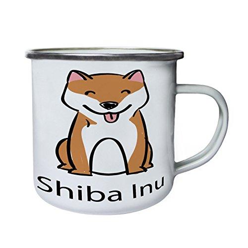 J'adore les chiens shiba inu chien amoureux nouveau Rétro, étain, émail tasse 10oz/280ml c882e