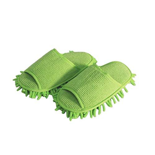 Vadrouilles Couvre Pour Lavables Microfibre chaussures dérapantes Anti En Oobest Pantoufles Green gx4wEF