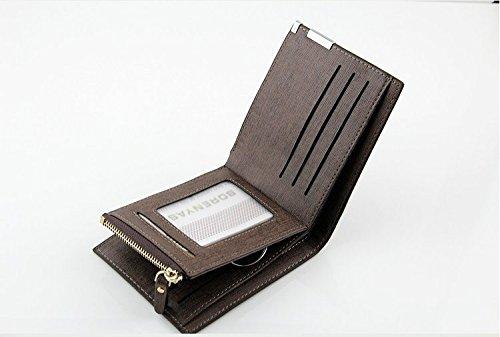 Men's Purse Wallet Leather Wallet Wallet Neu Coffee Wallet Men's Leather Purse wqqS5Zgt