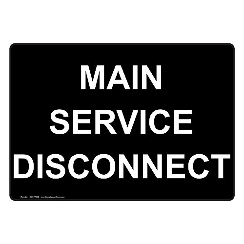 service disconnect sign - 6