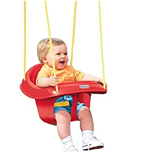 Little tikes high back toddler swing toys games for Baby garden swing amazon