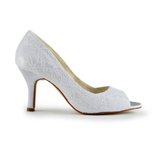 Minitoo Pumps Wedding White Womens Lace xwavx8