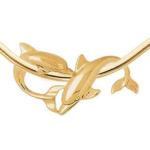 SURANO DESIGN JEWELRY 14k Yellow Gold Dolphin Slide Pendant, Made in - Dolphin Slide 14k Gold