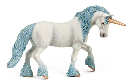 Papo Magic Unicorn with Blue Toy Figure ()