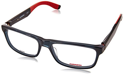 Carrera 8813 Eyeglass Frames CA8813-0DPB-5517 - Dark Gray Shiny Black Frame, Lens Diameter 55mm,