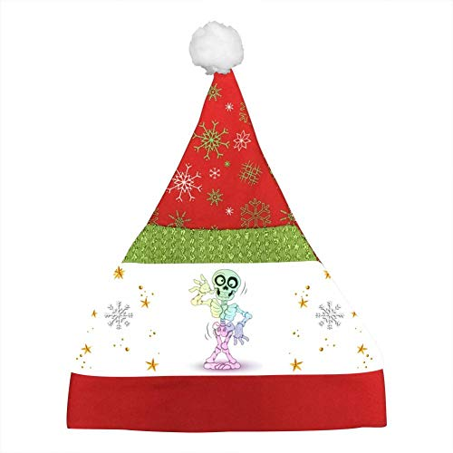 Halloween Skeleton Clipart Kids Christmas Hat Xmas Mini Santa Caps Unisex Party Hats Christmas Eve Headdress]()