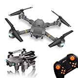 WINGLESCOUT Foldable Drone with Camera, FPV RC Quadcopter with 720P Wide-Angle Live Video Camera and Gravity Sensor,Trajectory Flight Mode,AR Games