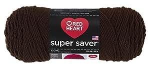 RED HEARTSuper Saver Yarn, Coffee