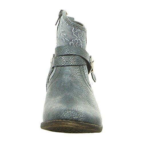 Cordones Para Fs180801 München Mujer Laufsteg b2 Zapatos Azul Denim De OvRqPg
