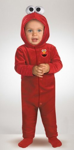 Giggling Elmo Infant Costume,Red,12-18 (Cool Toddler Costumes)