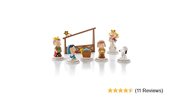 Hallmark Peanuts Gallery Nativity Collection 7 Handcrafted Resin Figures New