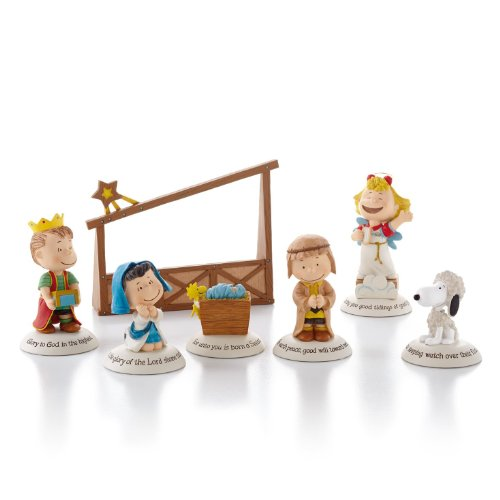Hallmark Exclusive 2012 Peanuts Gallery Nativity Figurines - Set of 7 - #XKT1037 by Hallmark]()