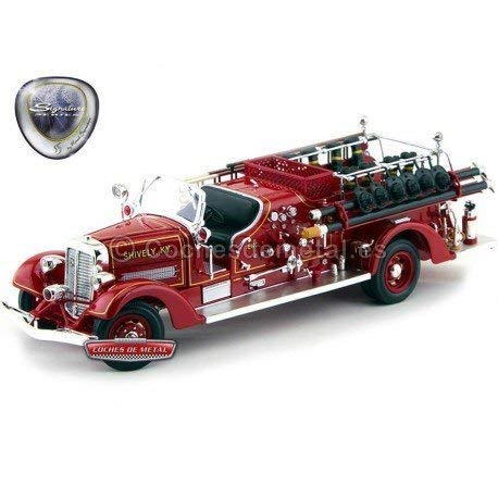 (Road Signature 1938 Ahrens Fox VC Fire Engine Truck Red with Accessories 1/24 Diecast Model)