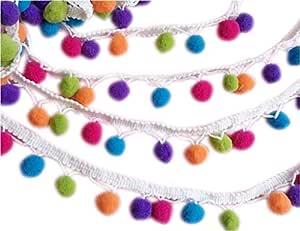 un rollo de cinta de costura con flecos de bola de pomp/ón ancho YYCRAFT