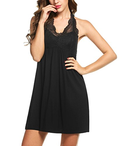 Goldenfox Night Dress Lady A Line Swing Nightwear (Empire Nightgown)