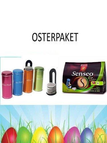 Senseo BIO Select para Senseo y otros cafeteras Oster acción + 4 latas con metálico Pad Padheber: Amazon.es: Hogar