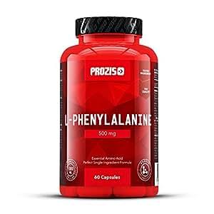 Prozis L-Phenylalanine 500mg 60 Caps - Fórmula de Aminoácidos Esenciales para Hombre y Mujer - Regula el Metabolismo y Mejor el Humor - 60 Dosis