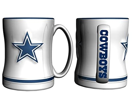 0dde33e7d Amazon.com   Dallas Cowboys Coffee Mug - 15oz Sculpted (White)   Sports    Outdoors