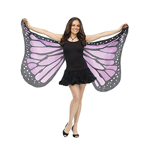 [Soft Butterfly Wings (Purple) Adult Accessory] (Plus Size Costumes)