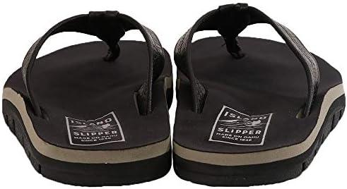 メンズ トング サンダル ビーチサンダル MEN'S BEACH TOWN OUTDOOR レザー スエード ハワイ製 IB8903L BLACK COWBOY ブラック [並行輸入品]